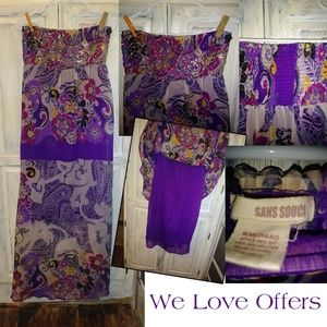 San Souci Purple Paisley Sequin Dress